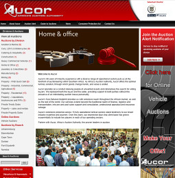 Aucor auction website screenshot